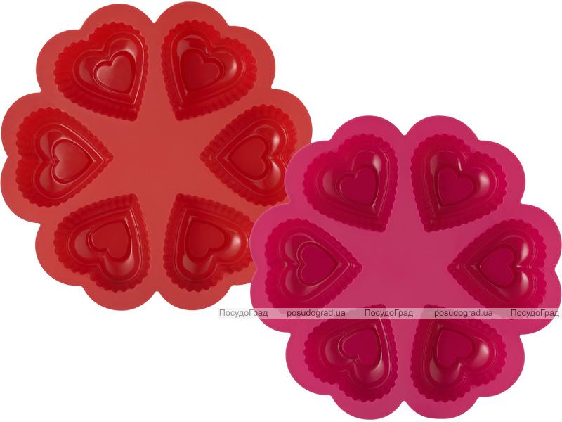 Силиконовая форма для выпечки Kaiserhoff 1205 6 сердечек