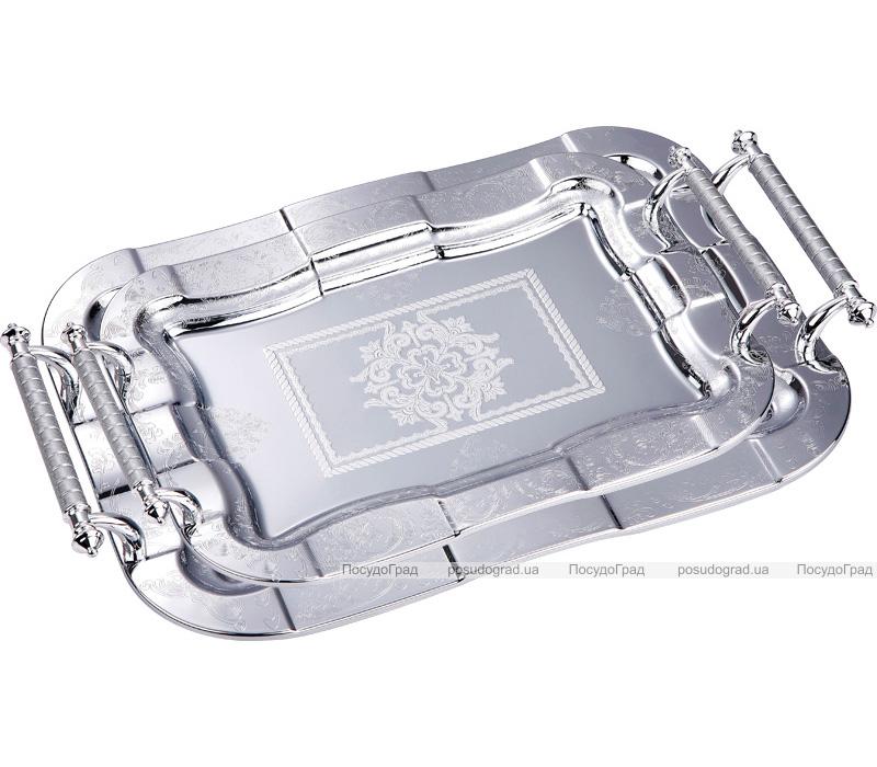 Подносы сервировочные Kaiserhoff Серебряный орнамент, 2 подноса
