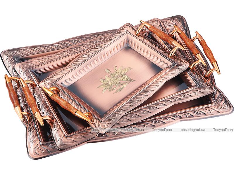 Подносы сервировочные Kaiserhoff 1746 Золотая лилия 3 подноса