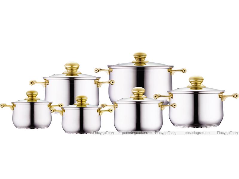 Набор кухонной посуды Kaiserhoff Standard Gold 6 кастрюль с крышками