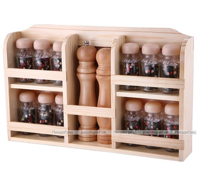 Набор для специй Kaiserhoff 2608 14 предметов и деревянная стойка