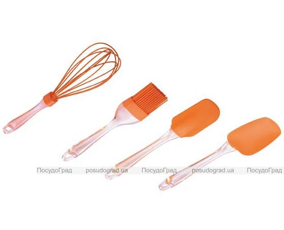 Набор кухонных силиконовых аксессуаров Kaiserhoff венчик, 2 лопатки и кисть