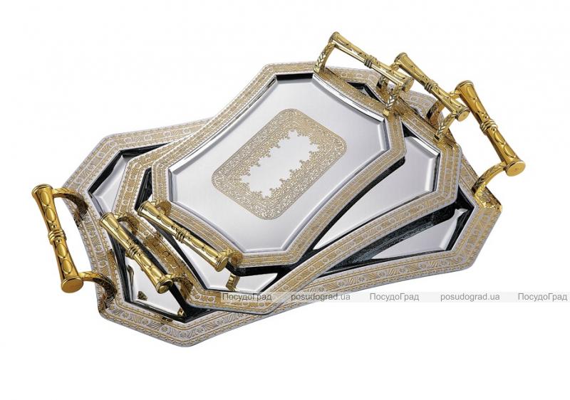 Подносы сервировочные Kaiserhoff 4853 Восточный стиль Золото 3 подноса