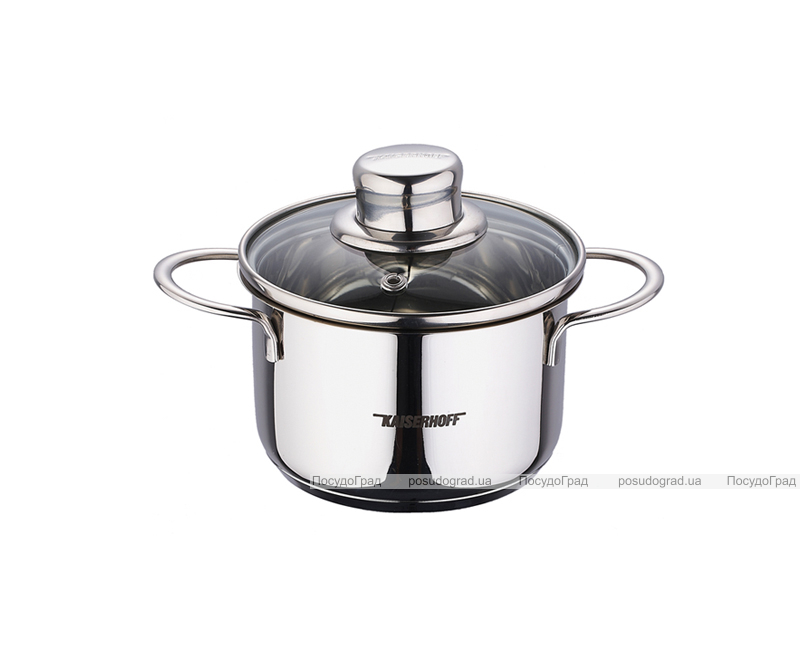 Кастрюля Kaiserhoff Style Pot Junior 800мл со стеклянной крышкой