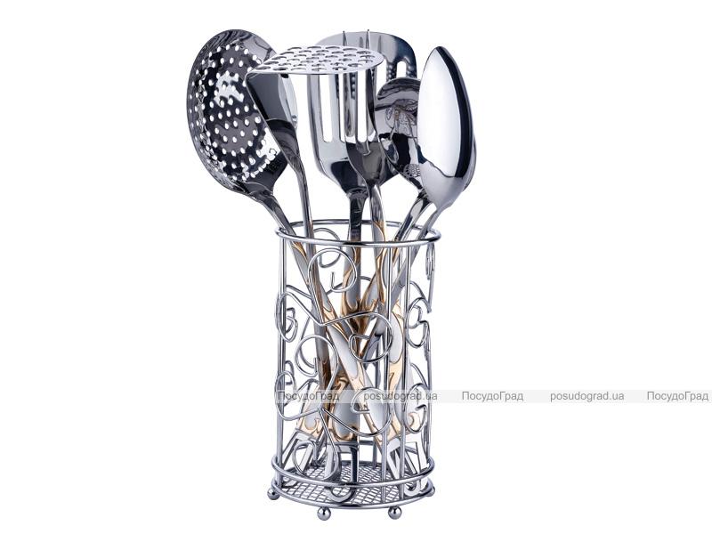 Кухонный набор Kaiserhoff 8350 7 предметов в металлической подставке