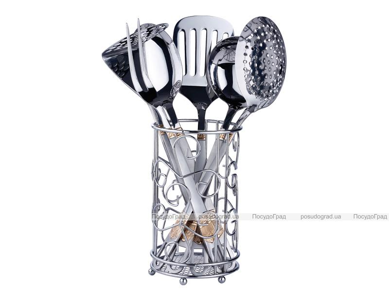 Кухонный набор Kaiserhoff 8351 7 предметов в металлической подставке