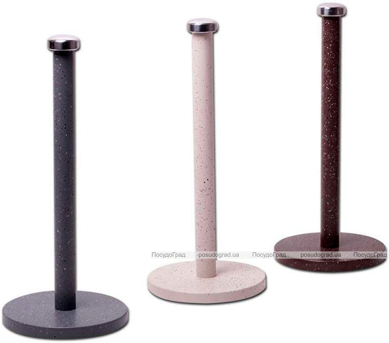 Тримач для паперових рушників Kamille Marble Ø15х34см з гранітним покриттям