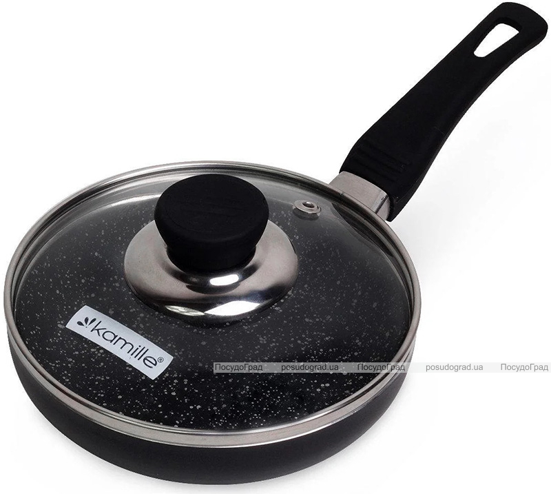 Набір сковорідок Kamille Velbert млинцева Ø22см і сковорода Ø14см з кришкою