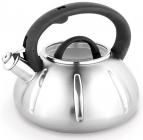 Чайник Kamille Graz-І 3л з нержавіючої сталі зі свистком і скляною кришкою