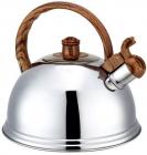 Чайник Kamille Silver Falls 2.7л из нержавеющей стали со свистком