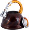 Чайник Kamille Marshmallow 3л з нержавіючої сталі зі свистком, золотий
