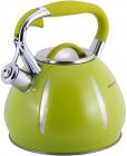 Чайник Kamille Marshmallow 3л з нержавіючої сталі зі свистком, зелений