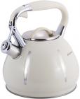 Чайник Kamille Marshmallow 3л з нержавіючої сталі зі свистком, бежевий