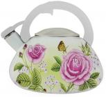 Чайник эмалированный Kamille Spring Flowers-I со 3.0л со свистком