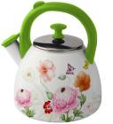 Чайник эмалированный Kamille Spring Flowers-II 2.8л со свистком