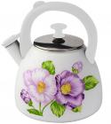 Чайник эмалированный Kamille Spring Flowers-III 2.8л со свистком