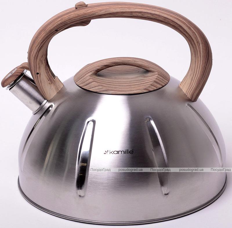 Чайник Kamille Whistling Kettle 5л из нержавеющей стали со свистком