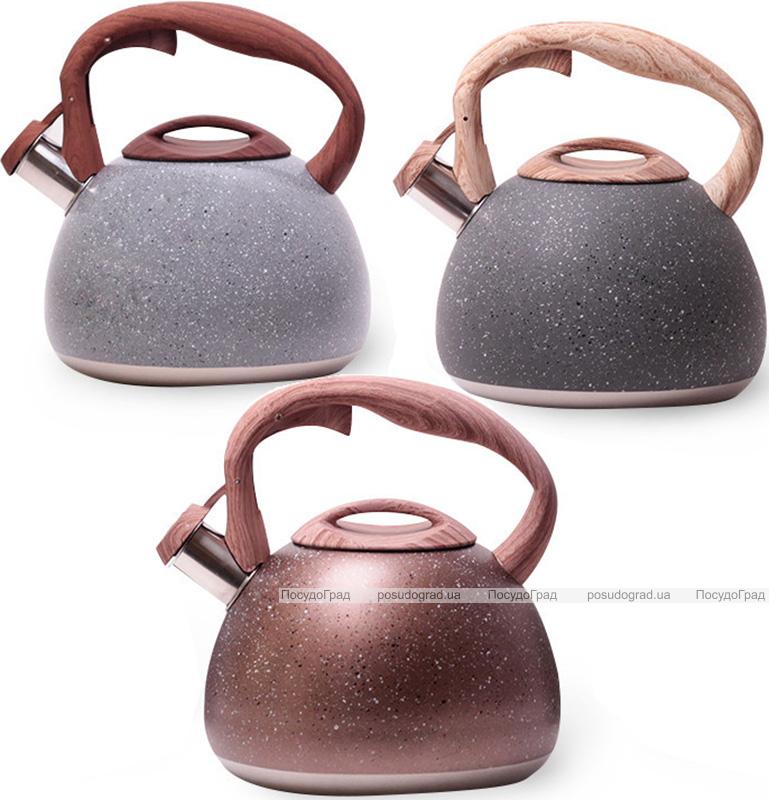 Чайник Kamille Whistling Kettle Granite 2.8л з нержавіючої сталі зі свистком