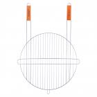 """Решітка для барбекю Kamille """"Скаут"""" Ø46х75см з двома ручками, кругла"""