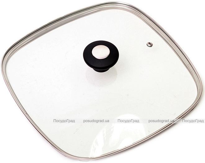 Крышка стеклянная квадратная Kamille Dominica Black 28х28см