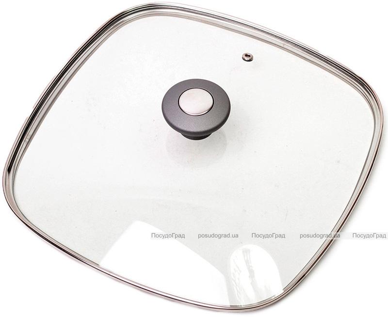 Крышка стеклянная квадратная Kamille Dominica Grey 28х28см
