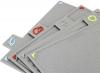 Набор 4 разделочные доски Kamille 29x19.5x0.6см на компактной подставке, твердый пластик