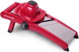 Овощерезка-шинковка Kamille с механическим переключателем насадок, красная