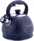 Чайник Kamille Whistling Kettle 2л з нержавіючої сталі зі свистком, чорний мармур