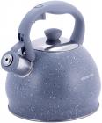 Чайник Kamille Whistling Kettle 2л з нержавіючої сталі зі свистком, сірий мармур