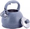 Чайник Kamille Whistling Kettle 2л из нержавеющей стали со свистком, серый мрамор