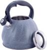 Чайник Kamille Whistling Kettle Marble 3л з нержавіючої сталі зі свистком (чорний, сірий мармур)