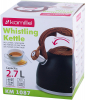 Чайник Kamille Whistling Kettle Black 2.7л з нержавіючої сталі зі свистком