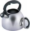 Чайник Kamille Whistling Kettle 2.7л из нержавеющей стали со свистком и стеклянной крышкой (серая ручка)