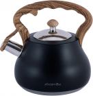 Чайник Kamille Whistling Kettle Black 2.7л з нержавіючої сталі зі свистком (чорний)