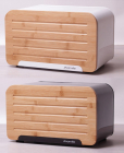 Хлебница Kamille Breadbasket Steel&Bamboo 35х20см из нержавеющей стали