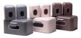 Хлібниця Kamille Breadbasket Steel 30х19.5см і 2 ємності для зберігання