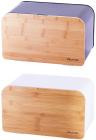 Хлібниця Kamille Breadbasket Steel&Bamboo 35х21.5х21см з нержавіючої сталі