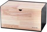 Хлібниця Kamille Breadbasket Steel&Bamboo 35.5х21.5х19.5см з нержавіючої сталі