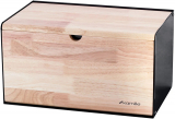 Хлебница Kamille Breadbasket Steel&Bamboo 35.5х21.5х19.5см из нержавеющей стали