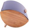 Хлібниця Kamille Breadbasket Wooden 35х25х16см бамбукова з набором ємностей для крупи (чорні)