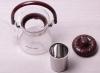 Чайник заварювальний Kamille Orlate 600мл скляний зі знімним ситечком