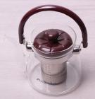 Чайник заварочный Kamille Orlate 600мл стеклянный со съемным ситечком