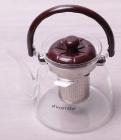 Чайник заварювальний Kamille Orlate 1400мл скляний зі сталевим ситечком