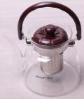 Чайник заварювальний Kamille Orlate 1800мл скляний зі сталевим ситечком