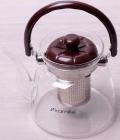 Чайник заварочный Kamille Orlate 2200мл стеклянный со стальным ситечком