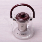 Чайник заварювальний Kamille Orlate 800мл скляний зі сталевим ситечком