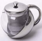 Чайник заварювальний Kamille Mercyle 1100мл скляний зі знімним ситечком