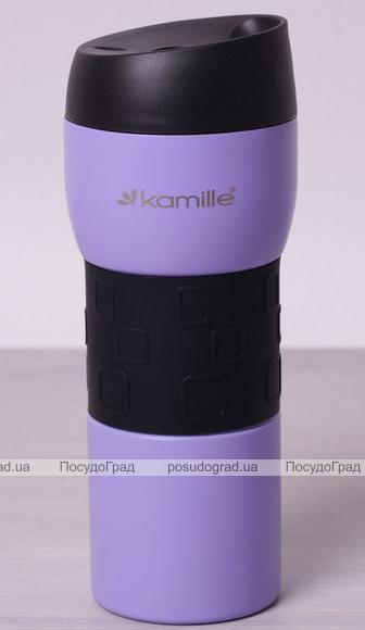 Термокружка Kamille Elegance 420мл сталь нержавеющая