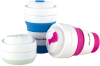 Спортивная складная бутылка Kamille для воды 350мл, силикон, розовый