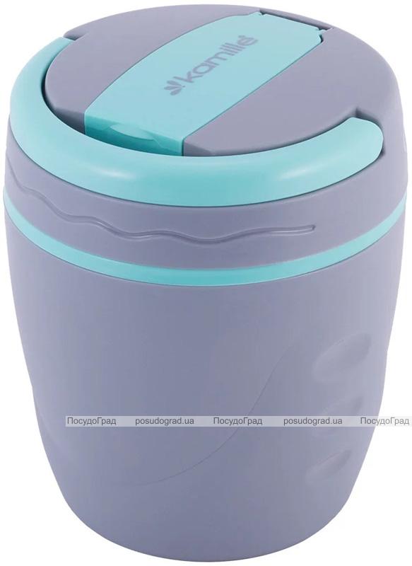 Термо-ланчбокс Kamille Lagoon 1л (харчовий термос) з контейнером і ложкою